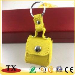 Belle couleur de bonbons Coin des sacs à main en cuir et porte-clés de chaîne de clé