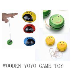 Baby Yoyo Cartoon Coccinelle balle en bois classique des jeux pour enfants jouet