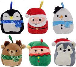 柔らかい詰められたプラシ天の赤ん坊の動物のおもちゃのSquishmallowsのクリスマスの休日の人形