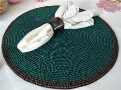 El proceso de venta directa de fábrica y personalizada alfombrilla de biselado de la Copa Hand-Made Matdishes Pad disco cena tabla de la bandera de mesa de té mate Mateo el aislamiento térmico Pad 027.