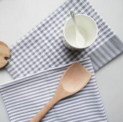 Classic algodão e linho cozinha doméstica guardanapo de tecido listrado Tinteiro cinza