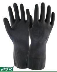 Housse en néoprène résistant aux acides et alcalis Chemical des gants de travail avec des doublures de toison