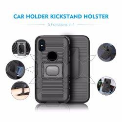 Kundenspezifischer gedruckter Auto-Halter-Riemen-Klipp-Pistolenhalfter Kickstand Telefon-Kasten für iPhone X