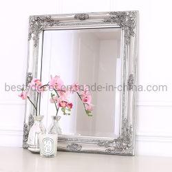 Vários tamanhos União mobiliário antigo de madeira para entalhar emoldurado espelho para pendurar