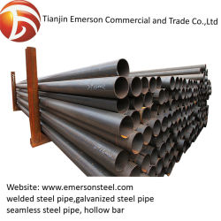 Una buena calidad de metal soldado ms suave al carbono templado negro REG de cuerpos huecos de tubo de acero, el precio más bajo tubo de acero soldado