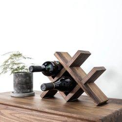 [4-بوتّلس] قابل للتراكم طبيعيّة 100% [أمريكن] [بلك ولنوت] خشبيّة خمر عرض