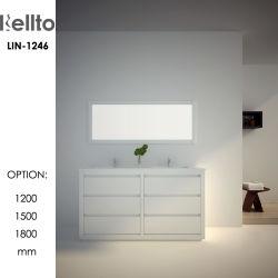 Salle de bains personnalisée de la vanité haut de gamme avec le haut bassin (LIN-1246)