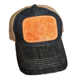 형식 주문 고품질 모자 부조세공한 가죽 패치 레이블