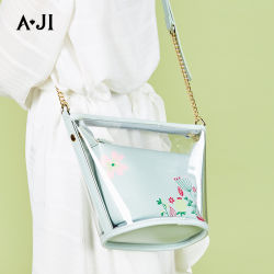 Ajiの女性袋PUおよびPVC単一の肩のバケツ袋2020のJelly Ladies Bag新しい方法女性