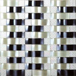 Дешевые цены серебристый металлик с остеклением фарфора мозаики плитки