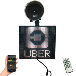 Phone著Bluetooth制御を用いるフルカラーLEDの内蔵パネルのUberのアイコンの乗客の名前車メッセージの印の表示