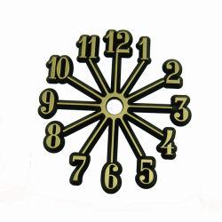 ゴールドブラックスモールドットプラスチッククロック番号アラビア語またはローマ語 時計の数字