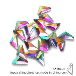 En gros la forme AAAA Shinny cosmique Hotfix Strass dos plat Crystal Stone (Cosmic 5*10mm)