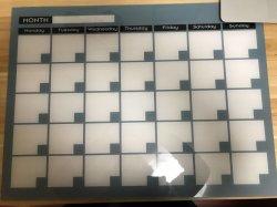 Impresión personalizada Borrar Pizarra acrílica Planificador de calendario genérico flotante borrado en seco Calendario de pared