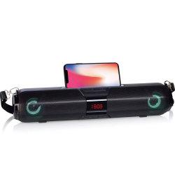 2019 Meilleure qualité de la barre de son réveil multifonction haut-parleur Bluetooth X22s appuyer Affichage en temps LED