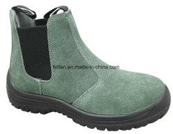 Assurance du travail de gros de chaussures en cuir chaussures de travail en caoutchouc antidérapant respirant Chaussures de sécurité