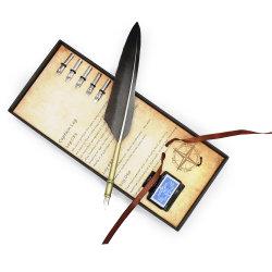 La douille de jeu de plumes de la Turquie d'encre stylo pour la Calligraphie antique