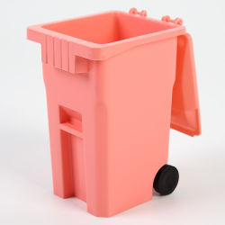 Itens promocionais com Mini contentores de lixo de plástico do logotipo, Mini Desktop Trash Can/