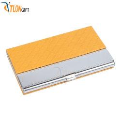 Cuir synthétique coloré Business Card Case mallette en cuir détenteur de carte d'affaires