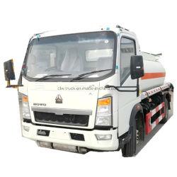 Clw 5000L caminhão tanque de combustível de veículos de distribuição de combustível HOWO Rhd reabasteça a máquina