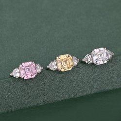 925 Fashion Bijoux en argent Bague en pierre de nuages colorés de cadeau pour mesdames