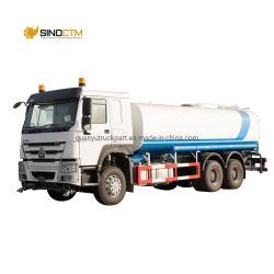 السعر الساخن الشركة المصنعة الصين 15000-20000 لتر HOWO 6X4 ناقلة مياه شاحنة جديدة ومستخدم