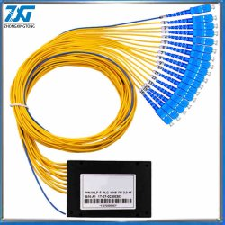 1*16 PLC Caixa Divisor Cble Fibra Óptica tipo 1X16 Dispositivo de ramificação de cabo de fibra de cassete