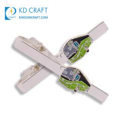 Fabricant de l'aviation Conception libre jeu de barre de fixation en acier inoxydable de gros de drôles de métal de titane épée de l'aimant de former un logo personnalisé en fibre de carbone avec cravate Boîte cadeau