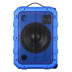 Simple 10pouces Trolley de karaoké haut-parleurs avec lumière Disco