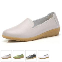Les femmes de la mode des chaussures en cuir des chaussures à semelle souple occasionnels (HHGZ-36)