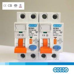 Высокое качество магнитных RCBO 2p 1 p+N 6A - 63A Китай RCCB прерывателя цепи