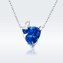 925 de echte Zilveren Halsbanden van de Juwelen van de Tegenhanger van het Kristal van de Legende van de Fee Blauwe Zilveren