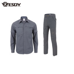 Esdyの男性ハイキングの軍の速い乾燥のワイシャツおよびズボン