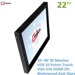 Stationnement libre-service 43pouces 22pouces 10IR Infrarouge Moniteur LCD LED poitns Videowall Kiosque industrielle HDMI Affichage interactif