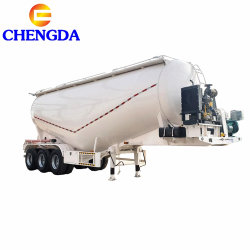 Rimorchio disponibile alla rinfusa del cemento dell'asse 45cbm dei pezzi di ricambio 3 semi