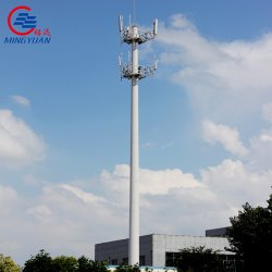 30m 원뿔 8각형 통신 탑 직류 전기를 통하는을%s 가진 강철 폴란드 탑