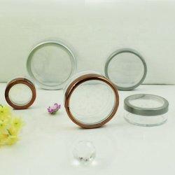 Runde Kunststoff-Kosmetikbehälter Verpackung, Lose Compact Pulvertasche