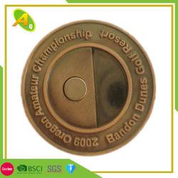 Kundenspezifisches Golf-Geschenk-Antike-Nickel graviertes Prägedruck-Zink-Legierungs-Decklackdivot-Hilfsmittel (012)
