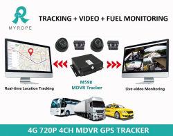 GPS de 4 canales SD Card Dual coche GPS DVR móvil 4G WiFi Bus Taxi Truck Mdvr Tracker