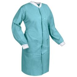 Bata de laboratório descartáveis não tecidos/Visitante roupa Casaco/Unissexo batas de laboratório