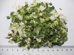 L'oignon vert poireau flocon déshydratés