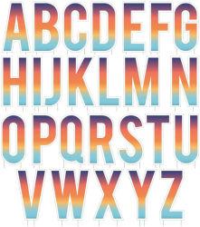 Yard lettres : décoration Alphabet Yard 26 PCS Lettres Yard/Lawn signer avec les enjeux