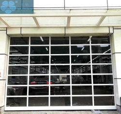 Residencial moderno personalizada aislado totalmente transparentes de policarbonato automático generales seccionales correderas Puertas puerta del garaje de la tienda 4s