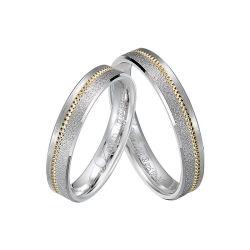 La moda de oro y rodio de los hombres de color plata 925 anillos de dedo en la Joyería de Plata Esterlina
