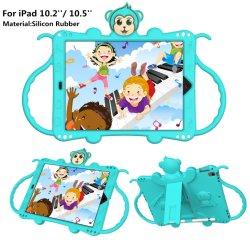 Caso di gomma di protezione del iPad del ridurre in pani del silicone del fumetto con il supporto per iPad 10.2 '' 10.5 ''