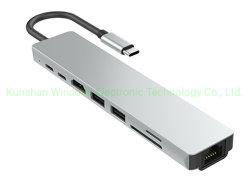 C형 도킹 HDMI RJ45 유형 C