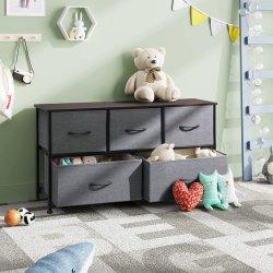 Amazon Hot Selling Fabric Storage Tower 5-lade Chest Fabric Dressoir voor slaapkamer