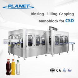 المشروبات الغازية CSD زجاجة الحيوانات الأليفة المشروبات الباردة الغازية كولا صودا ماكينة التعبئة الشراب المكربن CSD ماكينة تعبئة تعبئة المياه الغازية