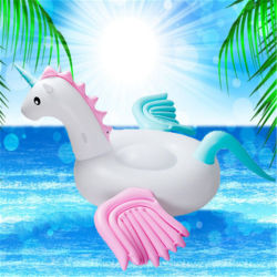 환경 보호 물 팽창식 사탕 색깔 말 비행 말 색깔 짐승 Unicorn 백색 용 말 색깔 Pegasus 마운트 뜨 줄 뜨 침대