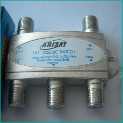 Interruptor de satélite, Conmutador Diseqc 4x1 (401A)